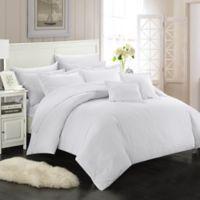 Chic Home Kanya 7-Piece Full/Queen Comforter Set in White