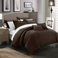 Chic Home Kanya 7-Piece Full/Queen Comforter Set in Brown