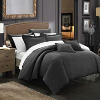 Chic Home Kanya 5-Piece Twin Comforter Set in Black
