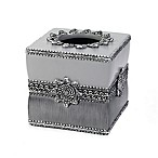 Avanti Braided Medallion Boutique Tissue Box Cover in Granite