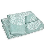 Sea Life Hand Towel in Blue