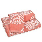Sea Life Bath Towel in Coral