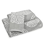 Sea Life Bath Towel in Grey