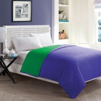 VCNY Ryder Full Reversible Quilt in Blue/Green