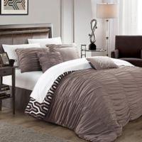 Chic Home Lassie 7-Piece Queen Comforter Set in Brown
