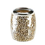 Gold Crackle Mosaic Glass Toothbrush Holder