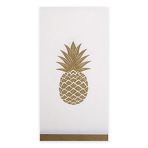 Pineapple 16 Count 3 Ply Paper Guest Towels Bed Bath