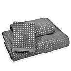 Ana Grid Hand Towel in Charcoal
