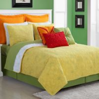 Fiesta® Martika Reversible Twin Quilt Set in Sunflower