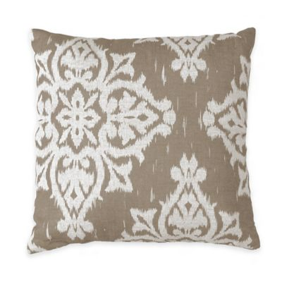 medina square throw pillow in taupe - Decorative Pillows For Bed