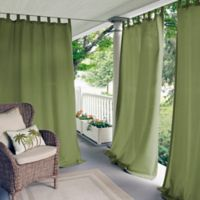 Elrene Matine 84-Inch Indoor/Outdoor Tab Top Window Curtain Panel in Green