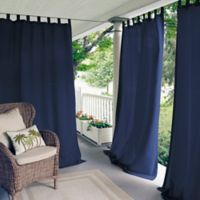 Elrene Matine 84-Inch Indoor/Outdoor Tab Top Window Curtain Panel in Blue