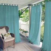 Elrene Matine 95-Inch Indoor/Outdoor Tab Top Window Curtain Panel in Mineral