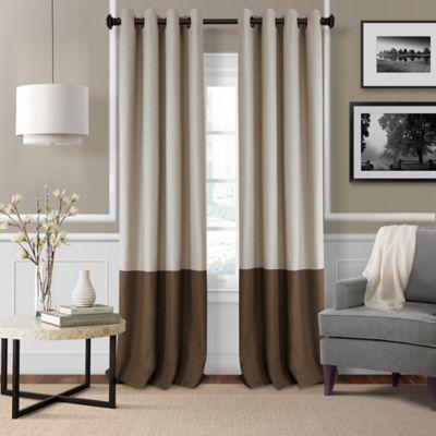 Elrene Braiden 95 Inch Grommet Top Room Darkening Window Curtain Panel In  Chocolate Part 73