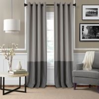 Elrene Braiden 84-Inch Grommet-Top Room-Darkening Window Curtain Panel in Grey