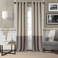 Elrene Braiden 84-Inch Grommet-Top Room-Darkening Window Curtain Panel in Linen