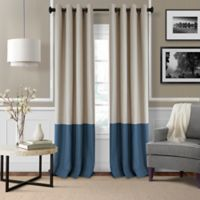 Elrene Braiden 95-Inch Grommet-Top Room-Darkening Window Curtain Panel in Navy