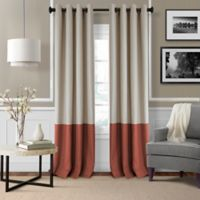 Elrene Braiden 84-Inch Grommet-Top Room-Darkening Window Curtain Panel in Rust