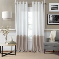Elrene Melody 84-Inch Grommet-Top Sheer Window Curtain Panel in Ivory