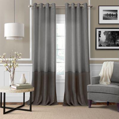 Elrene Melody 84 Inch Grommet Top Sheer Window Curtain Panel In Grey