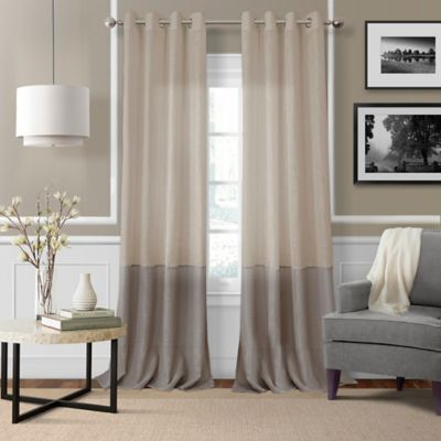 Elrene Melody 95 Inch Grommet Top Sheer Window Curtain Panel In Linen