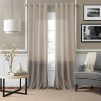 Elrene Melody 84-Inch Grommet-Top Sheer Window Curtain Panel in Linen