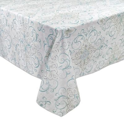 Lenox® French Perle Charm 60 Inch X 84 Inch Oblong Tablecloth
