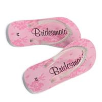 "Lillian Rose™ Size Medium ""Bridesmaid"" Women's Flip Flops"