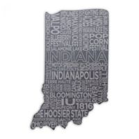 Top Shelf Living Indiana Etched Slate Cheese Board