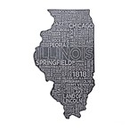 Top Shelf Living Illinois Etched Slate Cheese Board