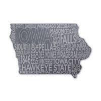 Top Shelf Living Iowa Etched Slate Cheese Board