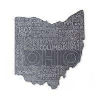 Top Shelf Living Ohio Etched Slate Cheese Board