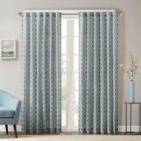 Aliya 108 Inch Rod Pocket Back Tab Window Curtain Panel In Spa Blue