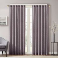 Aliya 95-Inch Rod Pocket/Back Tab Window Curtain Panel in Grey