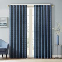 Aliya 84-Inch Rod Pocket/Back Tab Window Curtain Panel in Indigo