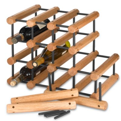 J.K. Adams 40 Bottle Wine Rack In Black