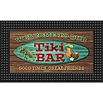 Tiki Bar18-Inch x 30-Inch LED Door Mat