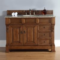 James Martin Furniture 48-Inch Single Vanity with Drawers and Santa Cecilia Stone Top in Country Oak