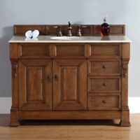 James Martin Furniture 48-Inch Single Vanity with Drawers and Galala Beige Stone Top in Country Oak
