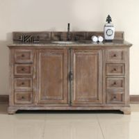 James Martin Furniture Providence 60-Inch Single Vanity with Santa Cecilia Stone Top in Dritftwood