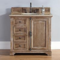 James Martin Furniture Providence 36-Inch Single Vanity with Galala Beige Stone Top in Dritftwood