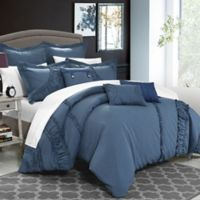 Chic Home Lucerne 8-Piece Queen Comforter Set in Blue