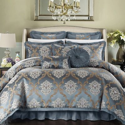 Chic Home Marchesi 9 Piece King Comforter Set In Blue