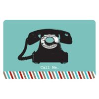 The Softer Side by Weather Guard™ 18-Inch x 27-Inch Retro Telephone Kitchen Mat