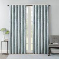 Brandy Leaf 108-Inch Rod Pocket/Back Tab Window Curtain Panel in Spa Blue