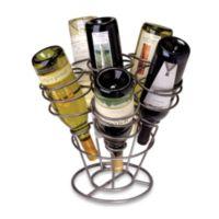 Oenophilia 6-Bottle Bouquet Wine Rack in Gun Metal Finish