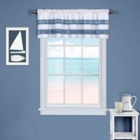 Ships and Chambray Kitchen Window Curtain Valance
