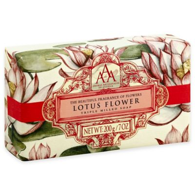 Attractive Aromatherapy Triple Milled Bar Soap In Lotus Blossom