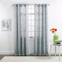 Belle Maison Darcy 84-Inch Grommet Top Chenille Embroidered Window Curtain Panels in Rain