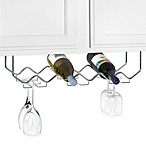 Under Counter 6-Bottle Wine Rack with Stemware Holder